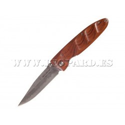 Mcusta Damascus Basic Folder Cocobolo