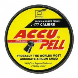 Balines Webley Accupell 4,5 mm 500 ud