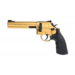 "Revólver Smith&Wesson Mod. 686 6"" Dorado Co2 Full Metal"