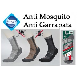 Calcetínes Deomed Anti Mosquito Marrón + Antracita