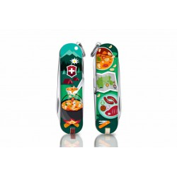 Victorinox - Navaja Suiza Multiusos Classic SD 2019 7 usos Swiss Mountain Dinner