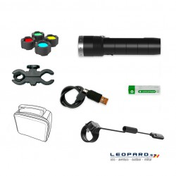 Linterna Led Lenser MT10 1000 Lumens Recargable Kit Caza