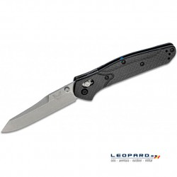 Benchmade 940-1 Sheepsfoot Gris Fibra de Carbono