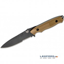 Benchmade Nimravus 140SBKSN Drop Point Coyote Hoja Negra Filo Mixto Funda Nylon