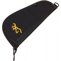 Browning Pistol Rug Black and Gold