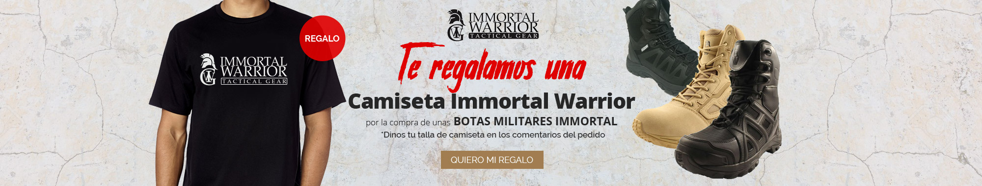 Regalo camiseta Immortal