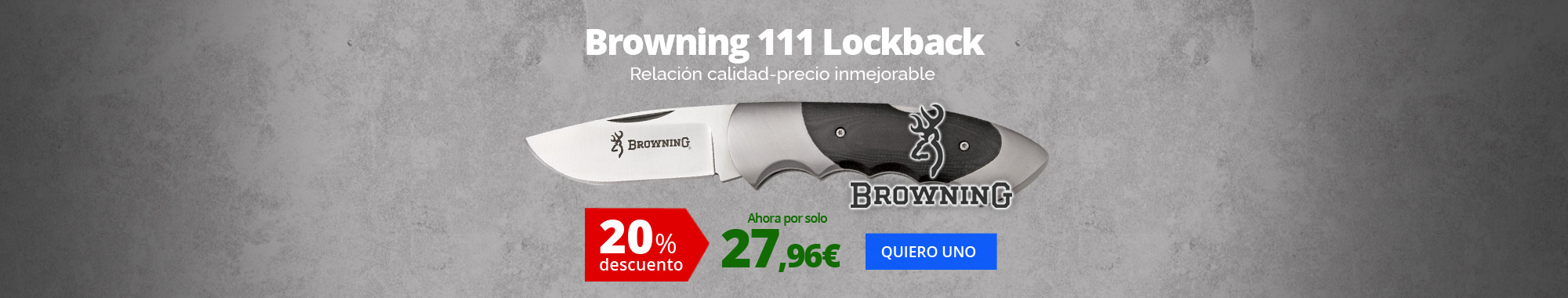 20% dto Browning 111 Lockback