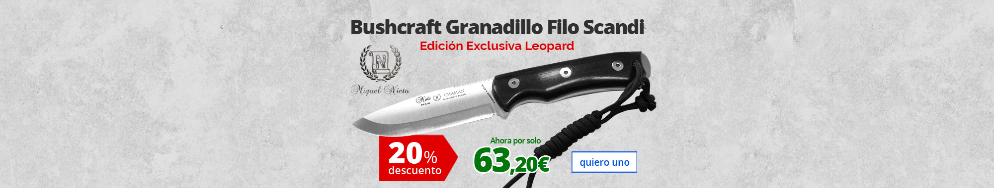 20% dto Bushcraft Granadillo