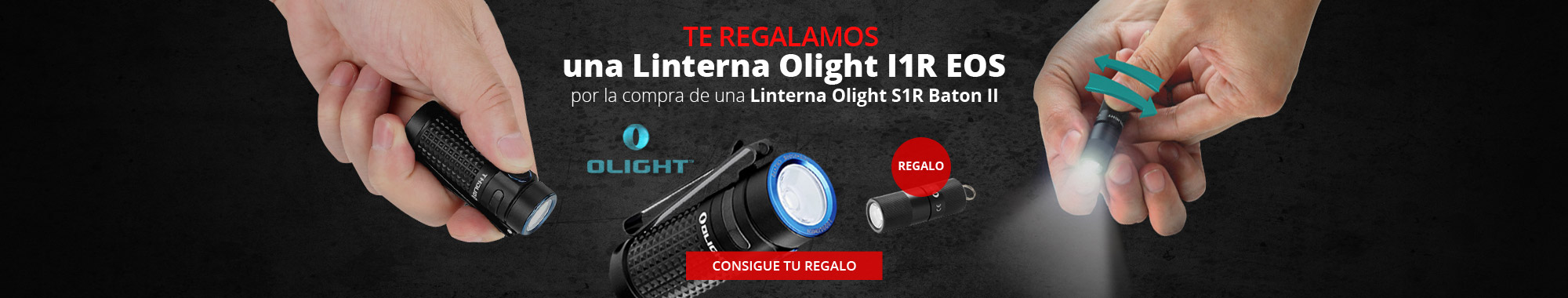 Regalo linterna l1R Olight