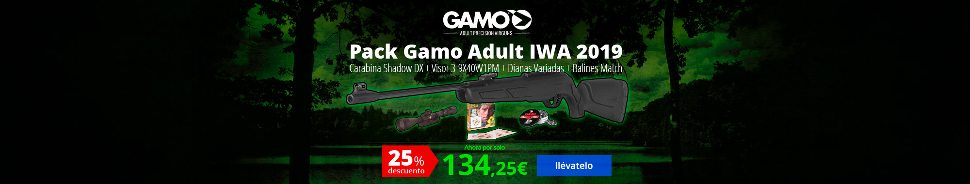 -25% Pack Gamo Adult IWA